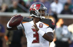 Tampa Bay Buccaneers quarterback Jameis Winston throws against the Minnesota Vikings during the first half of a preseason NFL football game Saturday, Aug. 15, 2015, in Minneapolis. (AP Photo/Jim Mone)
